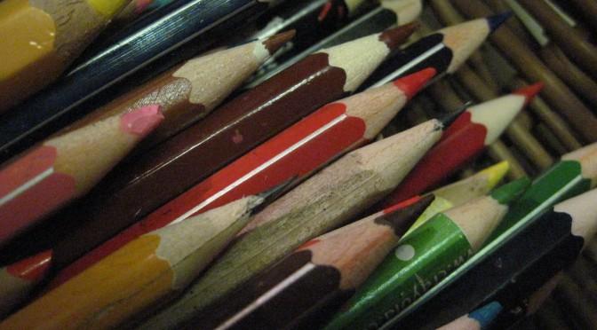 Organiser les crayons de couleur